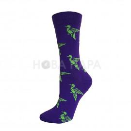 """набор ярких носков состоящий из 2 пар с оригинальным анималистическим принтом GeoZoo """"Фламинго+колибри"""""""