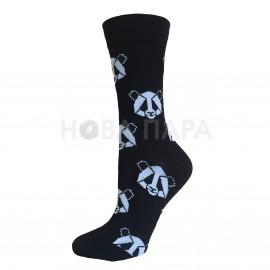"""набор ярких носков состоящий из 2 пар с оригинальным анималистическим принтом GeoZoo """"Панда+пингвин"""" в черно-белом цвете"""